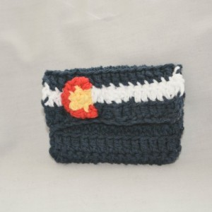 Colorado state flag crochet wallet, handmade crochet wallet, coin purse, cotton crochet wallet, business card holder, crochet wallet snap