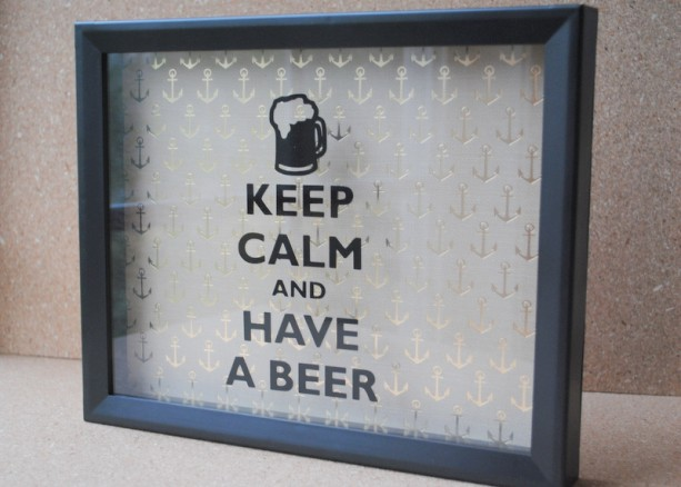 Beer Cap Picture Frame