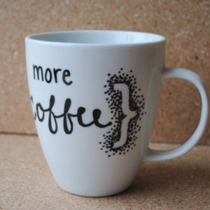 more {coffee} white ceramic mug