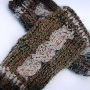 Hand Knit Cabled Texting Fingerless Mitts