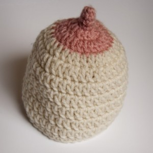 Customizable Baby Breast-Feeding Booby Beanie Newborn to 12 months