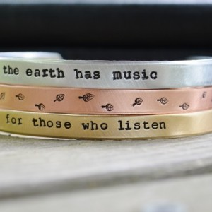 The Earth Has Music Cuff Set