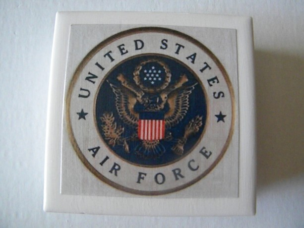 Air Force Armed Forces United States Set of 4 Drink Coasters