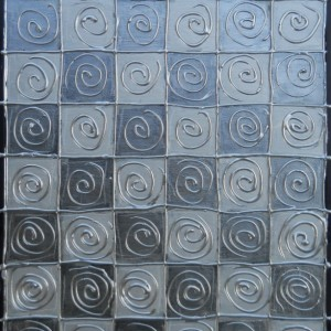 Silver Abstract Acrylic Modern Painting 12 x16 Original Sides Painted
