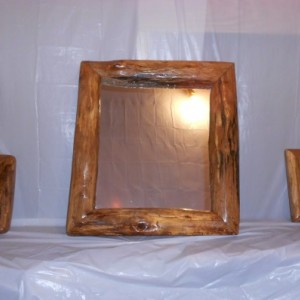 Oak mirror set