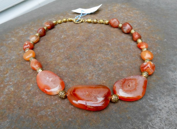 Carnelian Nugget Necklace
