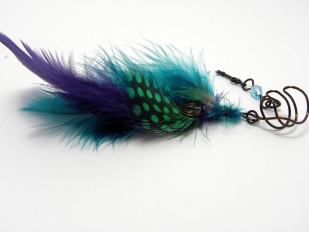 Handmade Colorful Feather Ear Cuff Ear Wrap