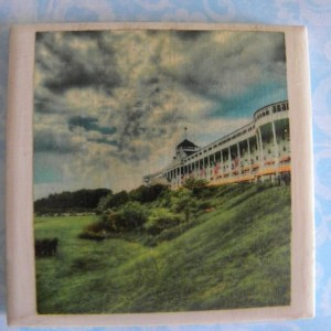 Mackinac Island Grand Hotel Michigan Set of 4 Drink Coasters