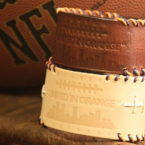 DENVER BRONCOS - LEATHER CUFF BRACELET