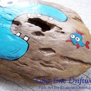 Dental Assistants Dentist Visit Grinning Fish Folk Art hand painted driftwood