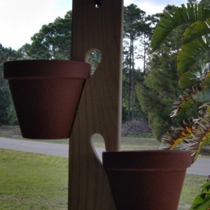 Wooden pot hanger 12 inch or 24 inch with S hook. Free Shipping!