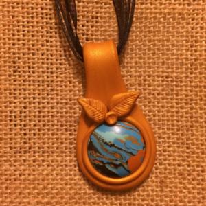 "Polymer Clay ""Rainbow Stone"" Necklace"