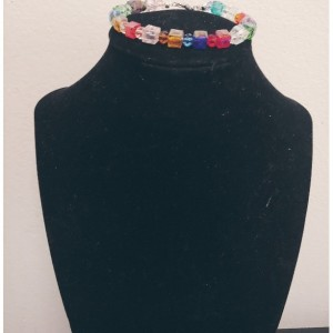 Transparent Crystal Glass Beaded Bracelet