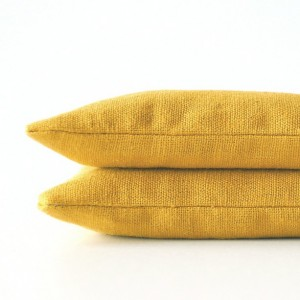 Goldenrod Yellow Modern Linen Lavender Sachets - Organic Lavender - Set of 2 Drawer Sachets