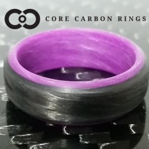 Carbon Fiber Purple Glow Ring