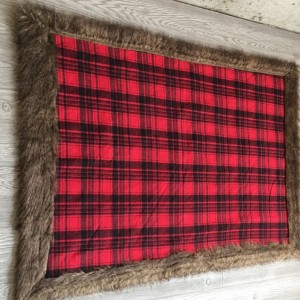 Minky Baby Blanket Mountain Flannel Buffalo Plaid Faux Fur Toddler Child Teen Adult Blanket