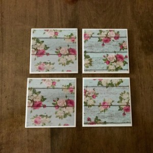 Custom Coasters-Non Stick Coasters-Personalized Coasters-Vintage Look Coasters-Ceramic Tile Coasters-Drink/Barware-Gift Ideas-Housewarming