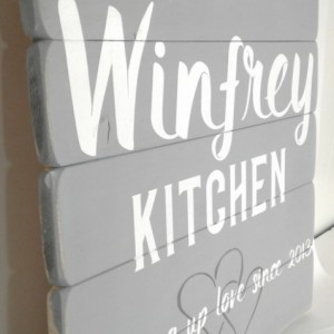 Personalized Anniversary Gift - Christmas Gift for Her - Established Sign - Kitchen Wood Signs - Farmhouse Kitchen - Wood Signs