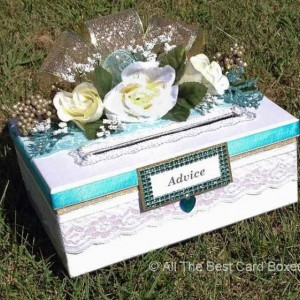 Wedding Advice box,wedding shower game,white wedding,will you be my bridesmaid,white wedding dress,bridesmaid robes,gift,bridal shower game