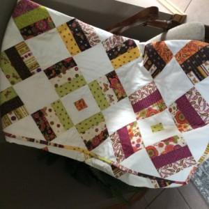 Handmade Modern Quilt - Butterflies and Flowers