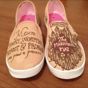 Marauder's Map Shoes