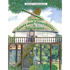 Coloring Book of Jane Austen's Sense and Sensibility by U Color Classics LLC ®