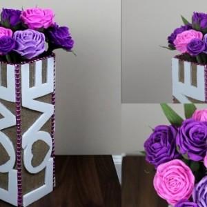 HandMade Flowers vase