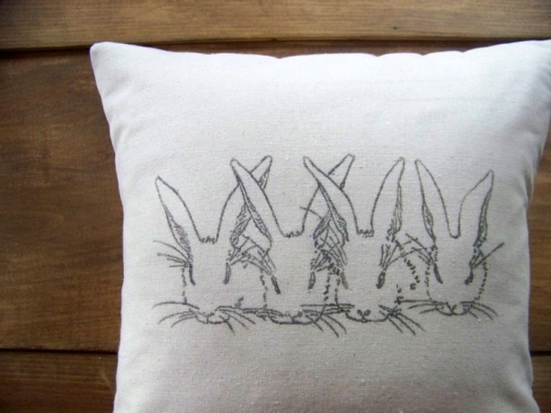 Bunny Pillow Cover - size 16x16