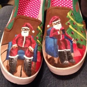 Handpainted Santa Shoes