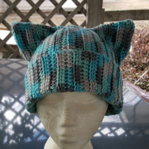 Cat Ears Beanie - Ice Blue
