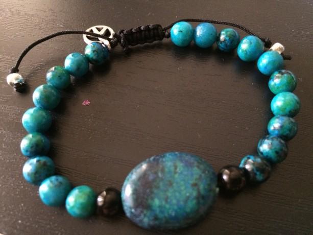 Teal peace bracelet