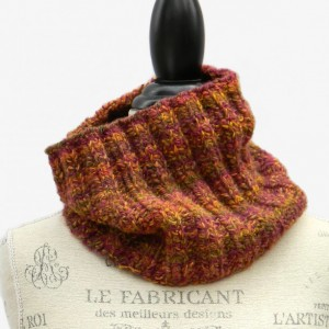 Mexicali Hand Knit Ladies Cowl - Women's Handmade Accessories