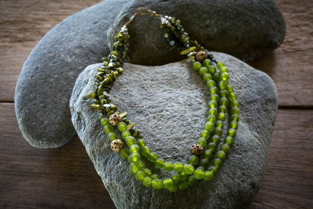 African necklace, African statement necklace, African jewelry, Boho green necklace, Ethnic necklace, Tribal necklace, Statement necklace