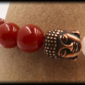 Carnelian Buddha Chakra Healing Bracelet to Manifest Greatness