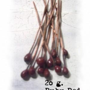 UR Ruby Red enameled headpins