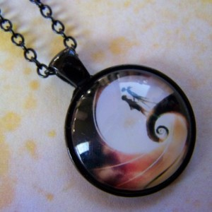 Nightmare Before Christmas Photo Glass Pendant