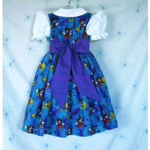 NEW Handmade Disney Minnie/Mickey/Pluto Spider Web Halloween Dress Custom Sz