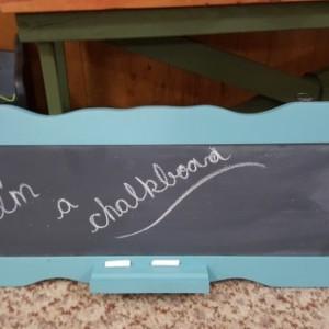 Blue Chalk Board