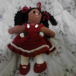 6.5in Curly girl doll 28