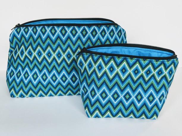 Small Zig Zag Matching Travel Bag, Travel Cases, Zipper Bag, School Supply Bag, Teacher Gift, Gift under 20
