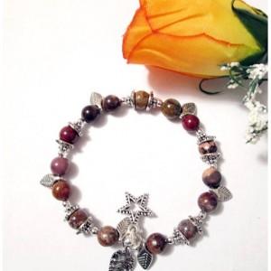 Boho Bracelet, African Opal Memory Wire Bracelet, African Opal Beaded Bracelet, Mookaite Beads, On Sale, Multi Gemstone Bracelet, Mom Gift