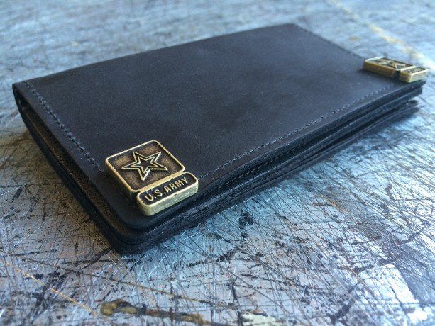 Mens Window & Zipper Wallet,  Genuine Leather, Durable Wallet, Handmade in SoCal, Made in USA