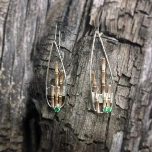 Zen Garden Green Bamboo Earrings