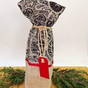 Wine bag, Gift bag, Hostess gift, Thank you gift, House warming, Teacher gift