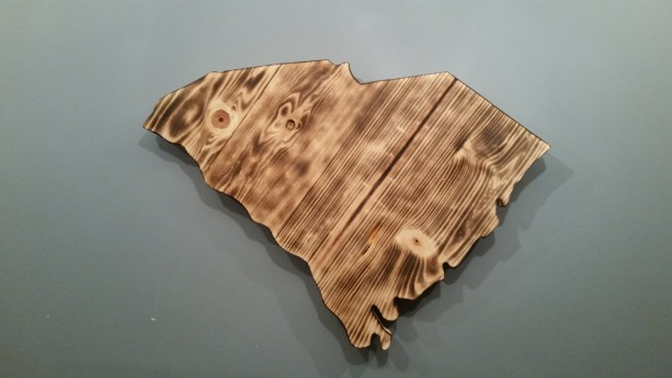 Rustic South Carolina State Decor, add a heart to your hometown