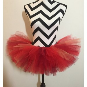 Ruby Red Bird Sparkle Tutu - New Born & Baby Sized