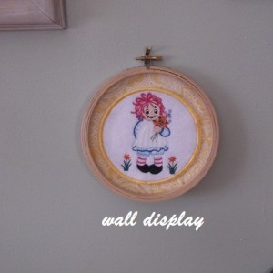 Machine embroidery ragdoll