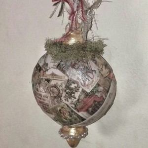 Vintage Style Shabby Chic Christmas Ornament