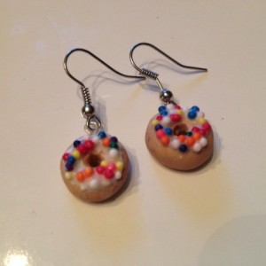 Sprinkle Donut Earrings