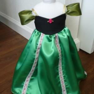 "Anna Frozen Inspired Coronation Dress for 18"" Doll"